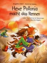 Hexe Pollonia macht das Rennen