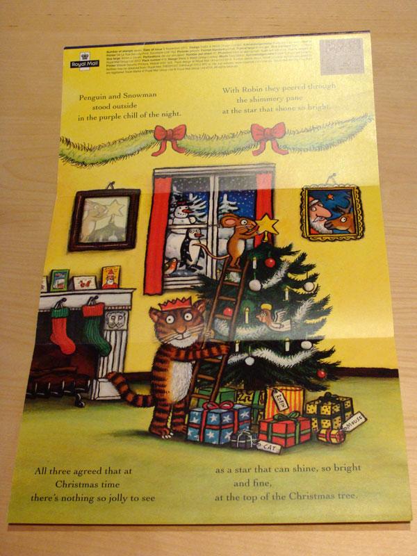 Axel Scheffler Briefmarken Christmas Presentation Pack Rückseite