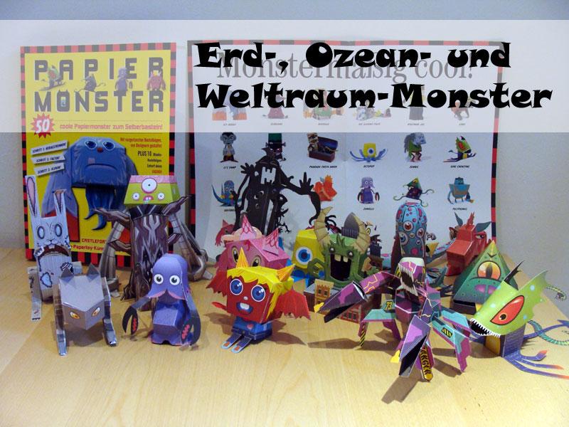 Castleforte - Papiermonster - Erd-, Ozean- und Weltraum-Monster