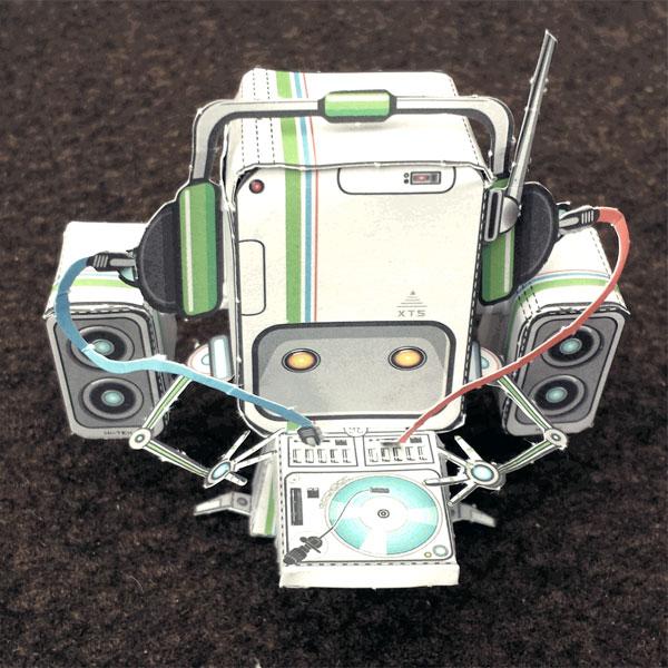 Papertoy-Roboter Irockbot von Castleforte