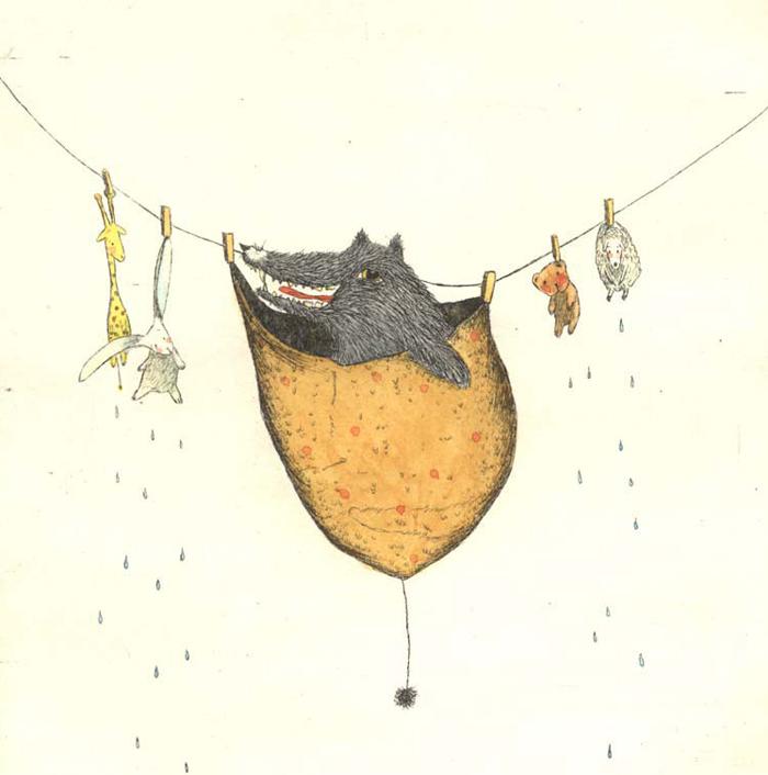 Andres - Innenillustration Wolf