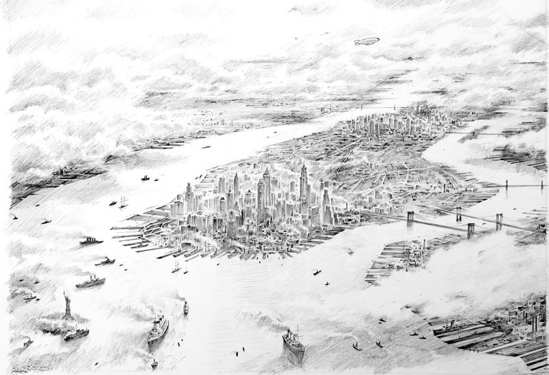 Torben Kuhlmann - New York-Vorzeichnu