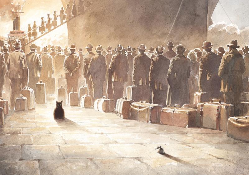 Illustration aus Lindbergh von Torben Kuhlmann - Hafenduell