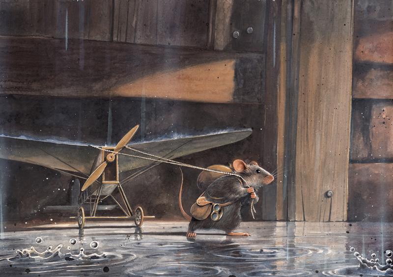 Illustration aus Lindbergh von Torben Kuhlmann - Mauseflucht