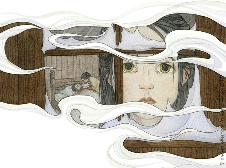 """Andrea Offermann - Illustration aus """"Der Eisdrache"""""""
