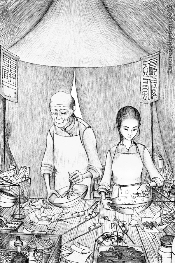 Andrea Offermann - Illustration aus Broken Lands